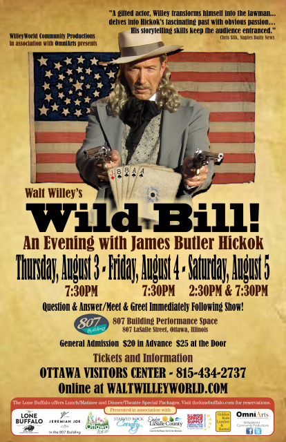 Walt Willey in Wild Bill!  An Evening with James Butler Hickok