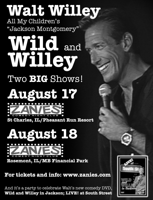 Walt Willey at Zanies in Rosemont and St. Charles IL